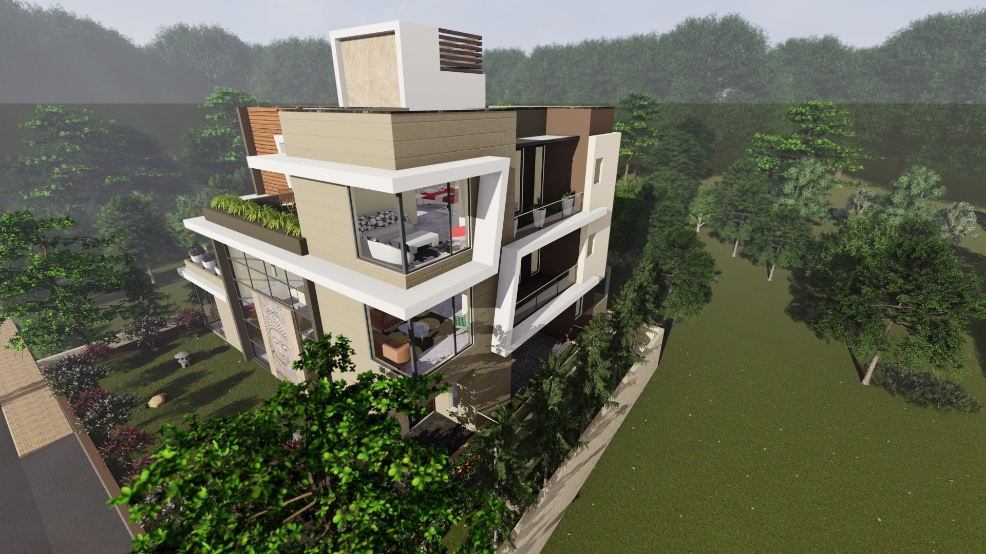 Unity Interiors, Bungalow Designing in South Bopal, Ahmedabad