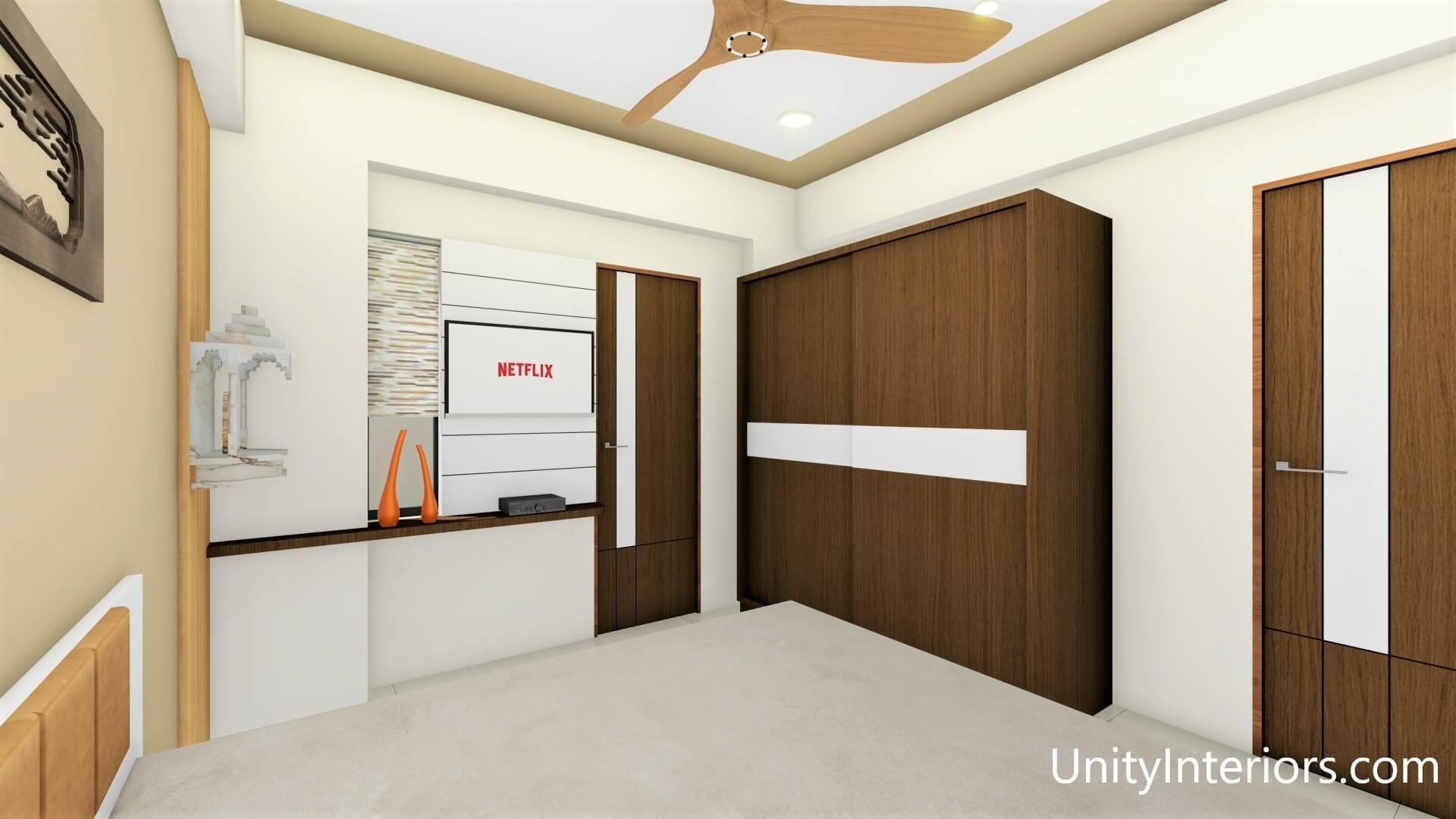 Interior Designer in Ahmedabad, Bedroom Design Ideas, Unity Interiors, Interior designing in budget