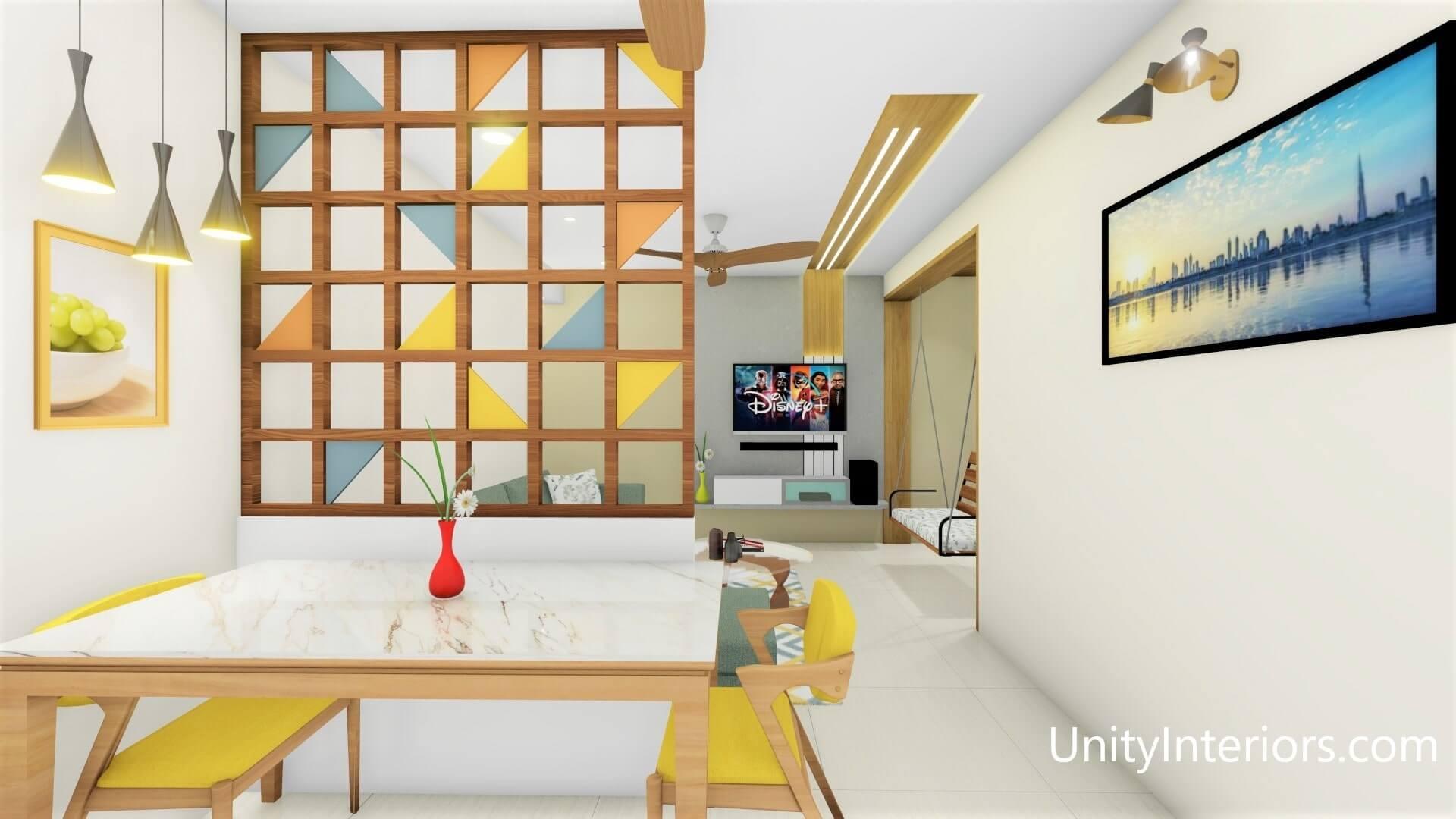 Interior Designer in Ahmedabad, Living room Design Ideas, Unity Interiors, Interior designing in budget